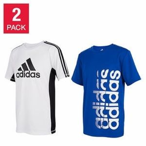 Adidas Youth 2-pack Tee, Blue/White